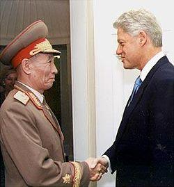 2000年10月10日、北朝鮮、朝鮮民主主義人民共和国の趙明禄朝鮮人民軍次帥と