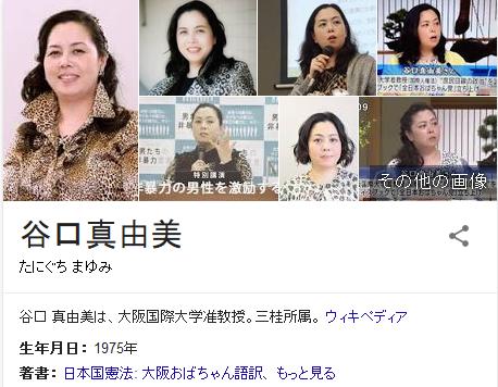 谷口 真由美は、大阪国際大学准教授。三桂所属。