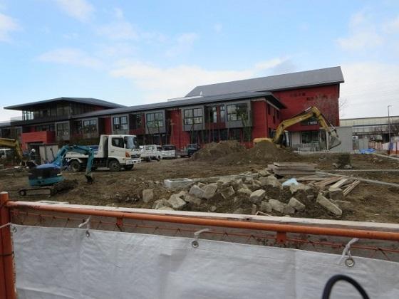小学校の建設が進んでいる現場