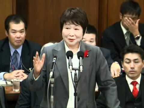 民主党 岡崎トミ子国家公安委員長 「反日デモとは知らなかった」