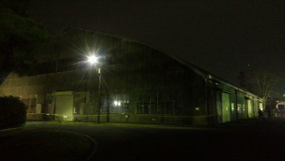 松戸駐屯地の倉庫