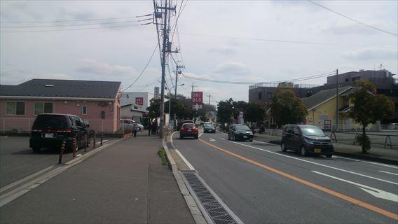 ユニクロ東松戸店付近