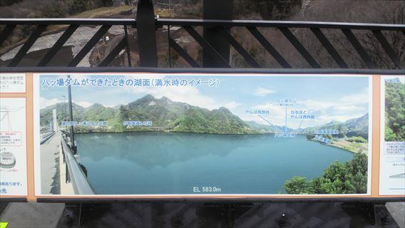 八ッ場ダム湖満水時のイメージ