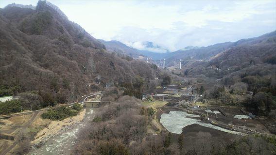 不動大橋から吾妻川下流方面