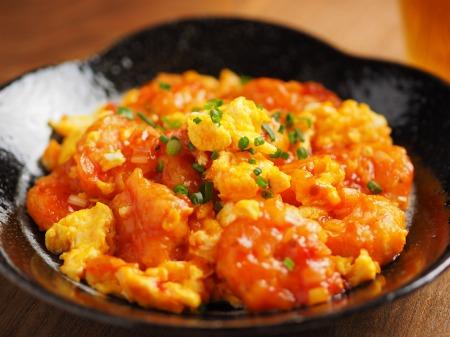 炒り卵エビチリ56