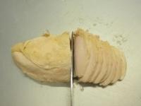 蒸し鶏と大ねぎの辛子酢みそ22