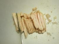 蒸し鶏と大ねぎの辛子酢みそ23