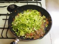 キャベツと合い挽き肉の焼飯13