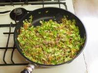 キャベツと合い挽き肉の焼飯14