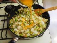 キャベツと合い挽き肉の焼飯18