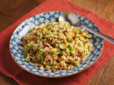 キャベツと合い挽き肉の焼飯27