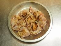 炙り鶏肉と豚バラのキムチ鍋16