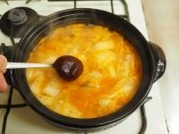 炙り鶏肉と豚バラのキムチ鍋31
