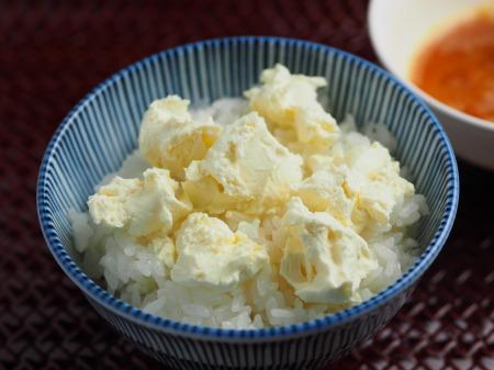 クリームチーズ卵かけご飯05