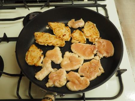 鶏むね肉の生姜焼き31