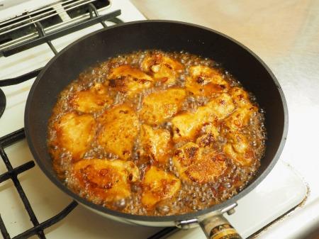 鶏むね肉の生姜焼き45