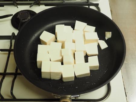 炒豆腐のチリソース炒め24