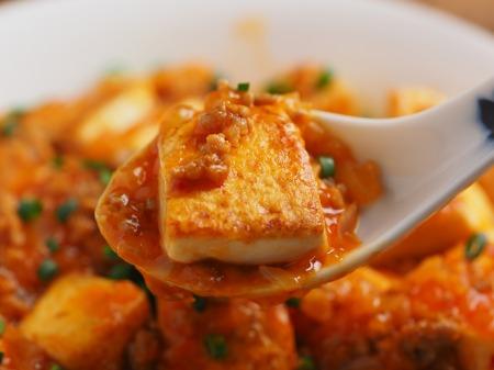 炒豆腐のチリソース炒め21