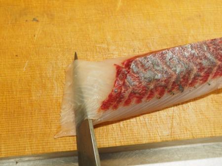 白身魚のカルパッチョ、食べる34