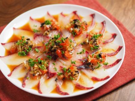 白身魚のカルパッチョ、食べる07