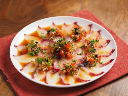 白身魚のカルパッチョ、食べる05