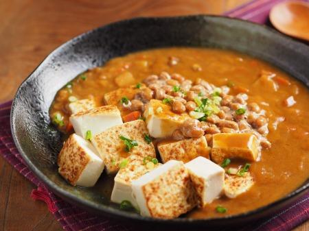 炒どうふの納豆カレー01