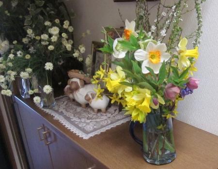 玄関に飾る花