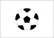サッカーボールのフリー素材テンプレート・フォーマット・雛形