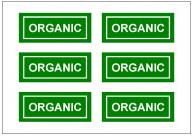 ORGANICの張り紙テンプレート・フォーマット・雛形