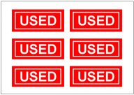 USEDの張り紙テンプレート・フォーマット・雛形