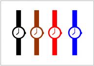 腕時計のフリー素材テンプレート・画像・イラスト