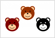 熊(クマ)のフリー素材テンプレート・画像・イラスト