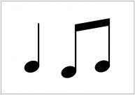 音譜のフリー素材テンプレート・フォーマット・雛形