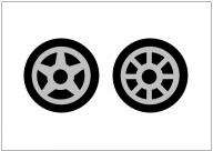 タイヤのフリー素材テンプレート・画像・イラスト