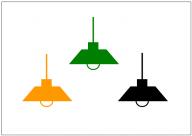 照明のフリー素材テンプレート・画像・イラスト