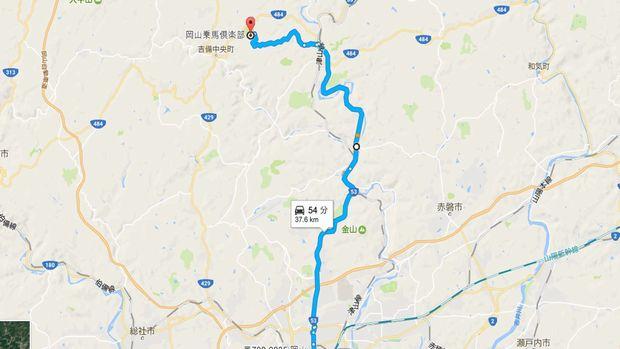 MAP(吉備高原サラブリトレーニング)