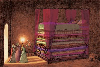 エンドウ豆の上に寝たお姫様
