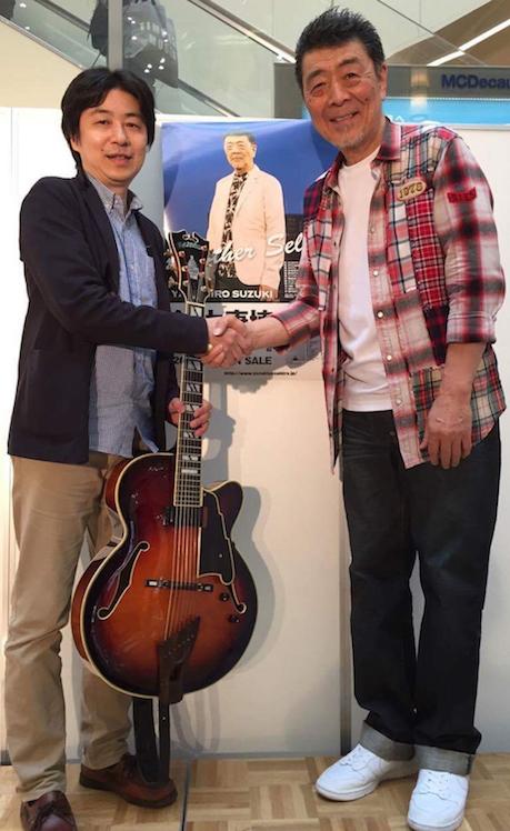 鈴木康博さんとディアンジエリコ7弦と