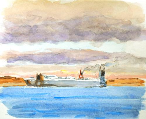 東京湾をゆく船-16