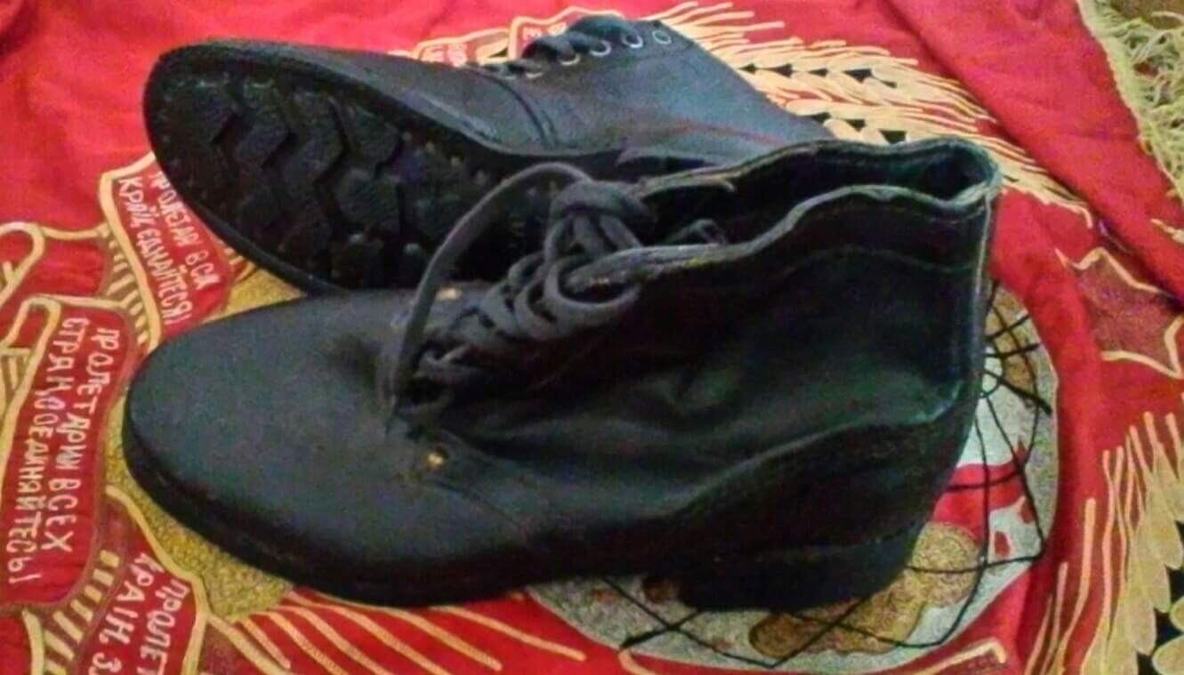 ソ連熱帯地用半長靴未使用新型ソール
