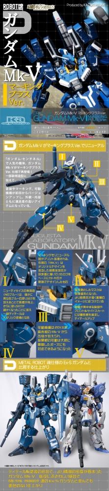 ROBOT魂(Ka signature) ガンダムMk-V マーキングプラス Ver.の商品紹介記事