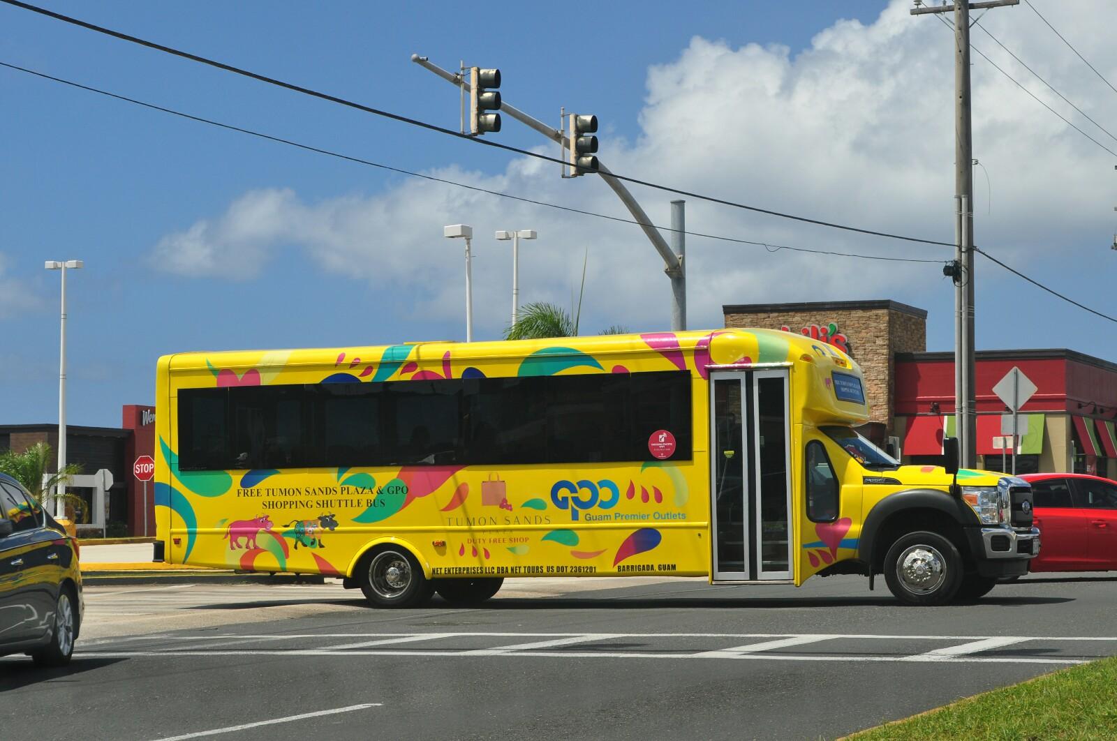 Guam Tumon Sunds Plaza GPO Bus