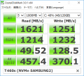 T460s NVMe SSDベンチ