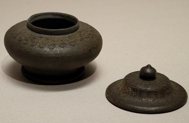 007印花文壺6-7C土製小倉