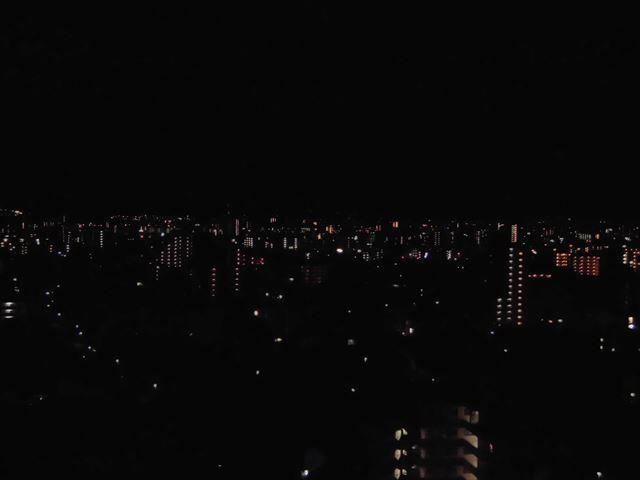 お部屋からの夜景