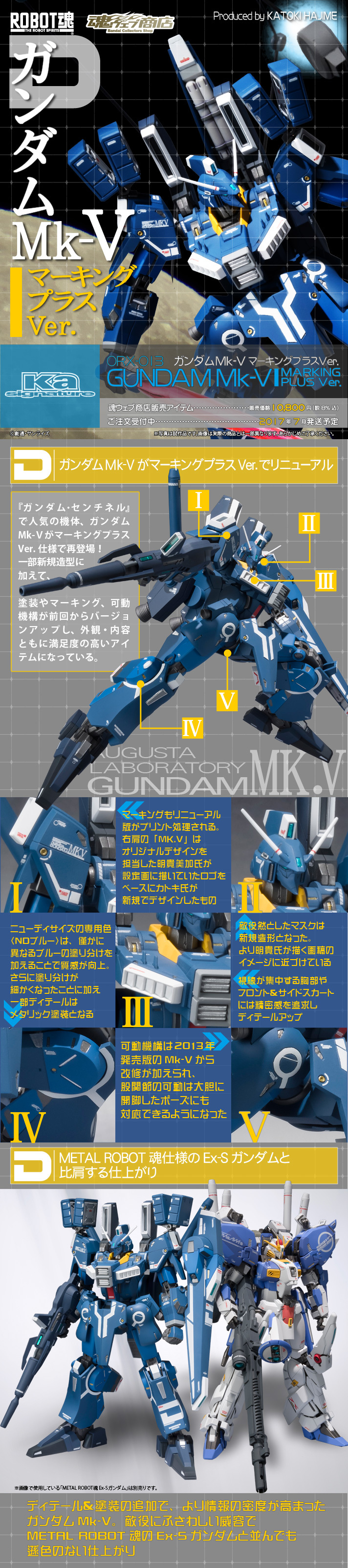 ROBOT魂(Ka signature) 〈SIDE MS〉 ガンダムMk-V マーキングプラスdtl_rs_gundammkv-mpv