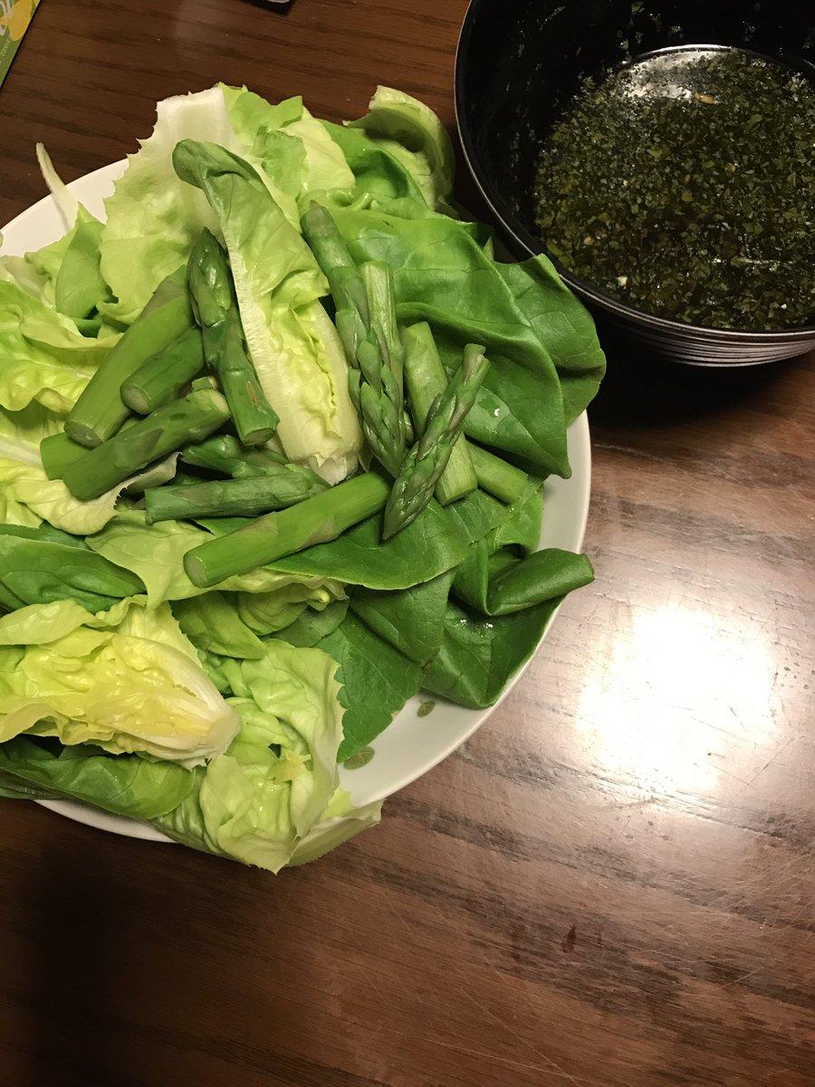 グリーンサラダ手作りノンオイルしそドレッシング