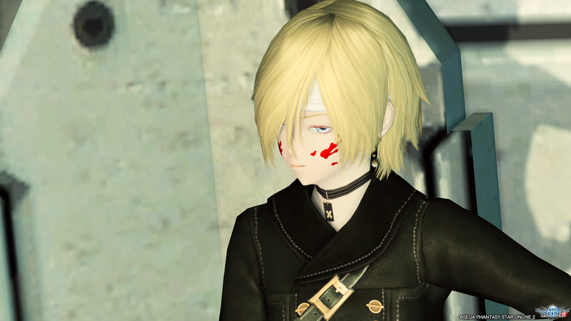 目隠しショートヘア 4