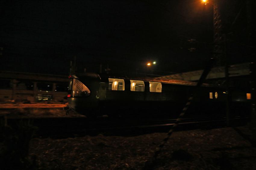 20170220一ノ関駅を出発した上りカシオペア3