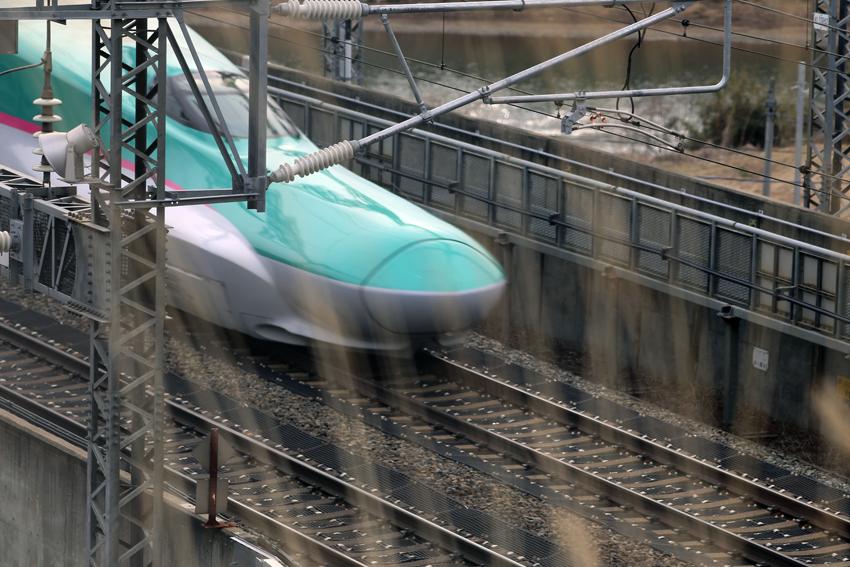 20170222新幹線~一関トンネル手前